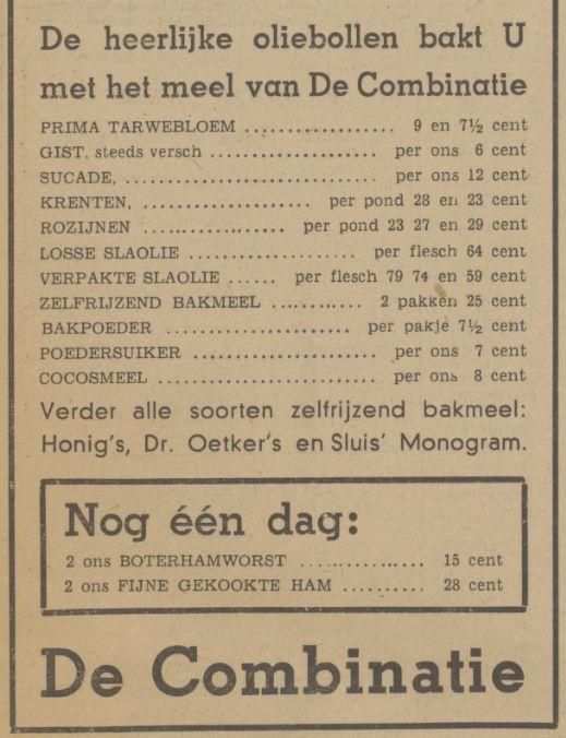 De Combinatie oliebollen advertentie Tubantia 29-12-1939.jpg