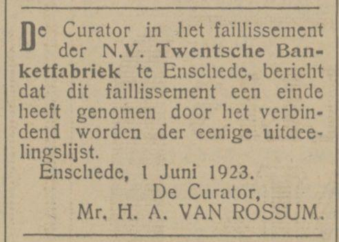 Twentsche Banketfabriek advertentie Tubantia 2-6-1923.jpg