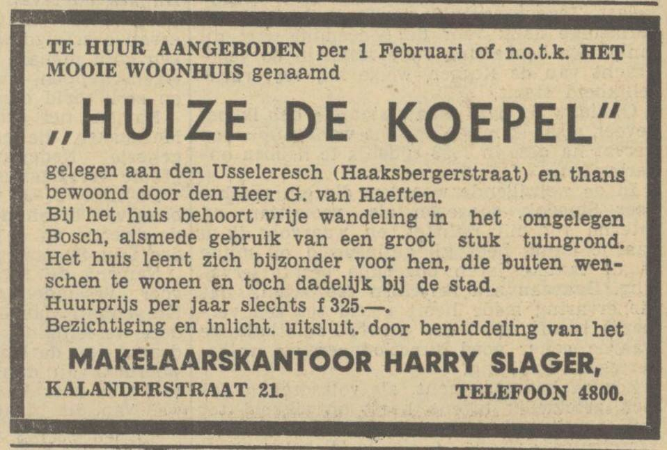 Haaksbergerstraat Huize De Koepel advertentie Tubantia 12 November 1937.jpg