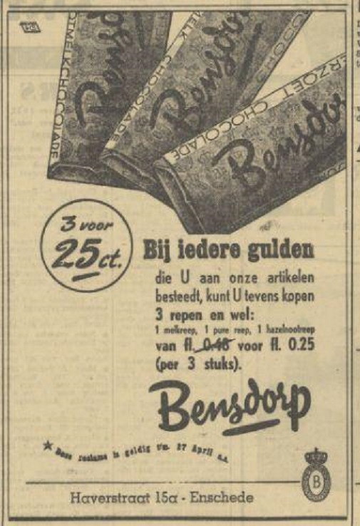 Haverstraat 15a Bensdorp advertentie Tubantia 13-4-1950.jpg