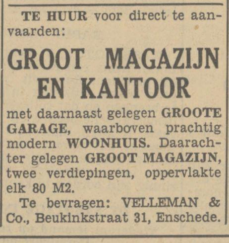 Beukinkstraat 31 Velleman & Co advertentie Tubantia 2-2-1937.jpg