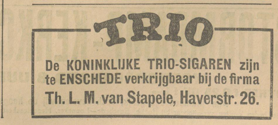 Haverstraat 26 Th.L.M. van Stapele advertentie Tubantia 4-6-1927.jpg