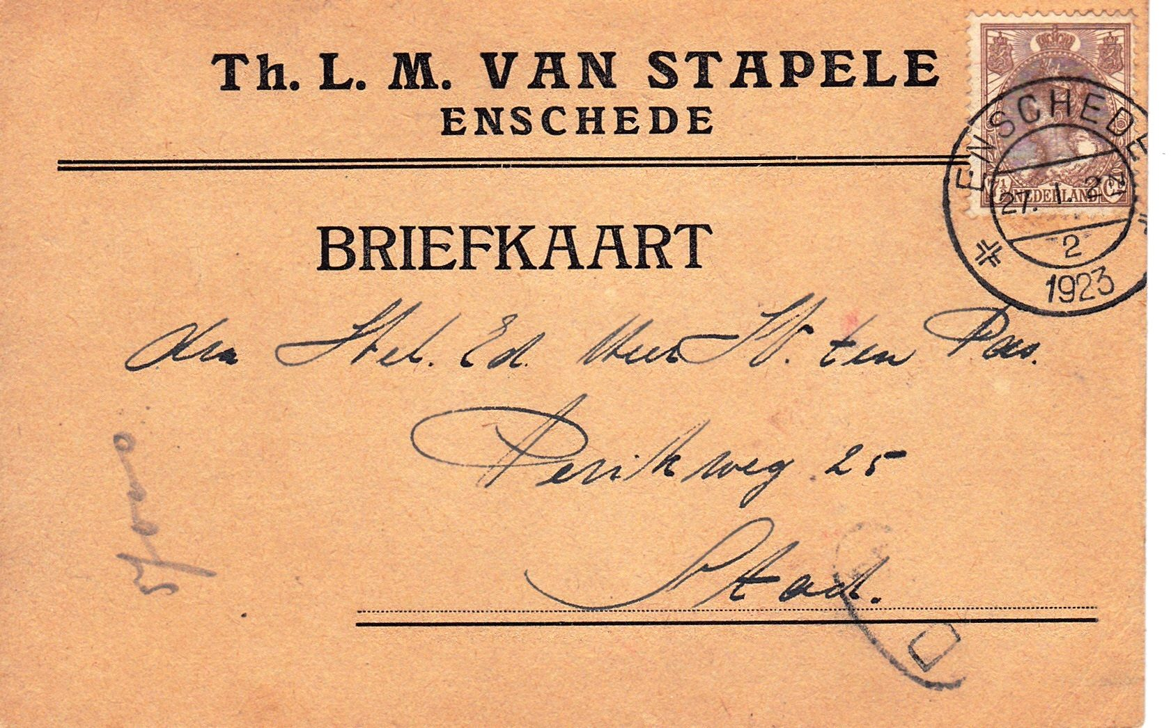 Haverstraat 26 Th.L.M. van Stapele briefkaart.jpg