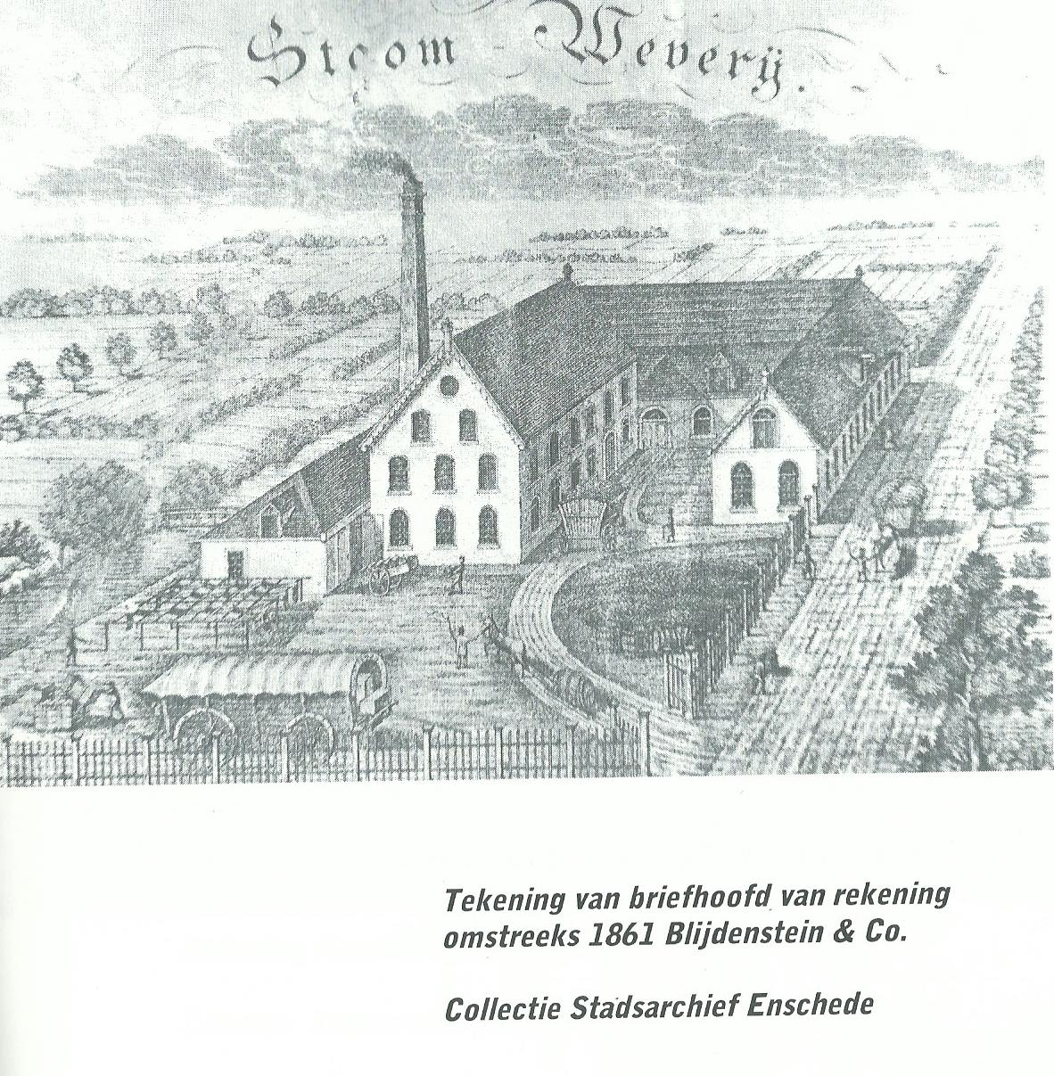 Losserscheweg later Oosterstraat Blijdenstein & co ca 1861 briefhoofd.jpg