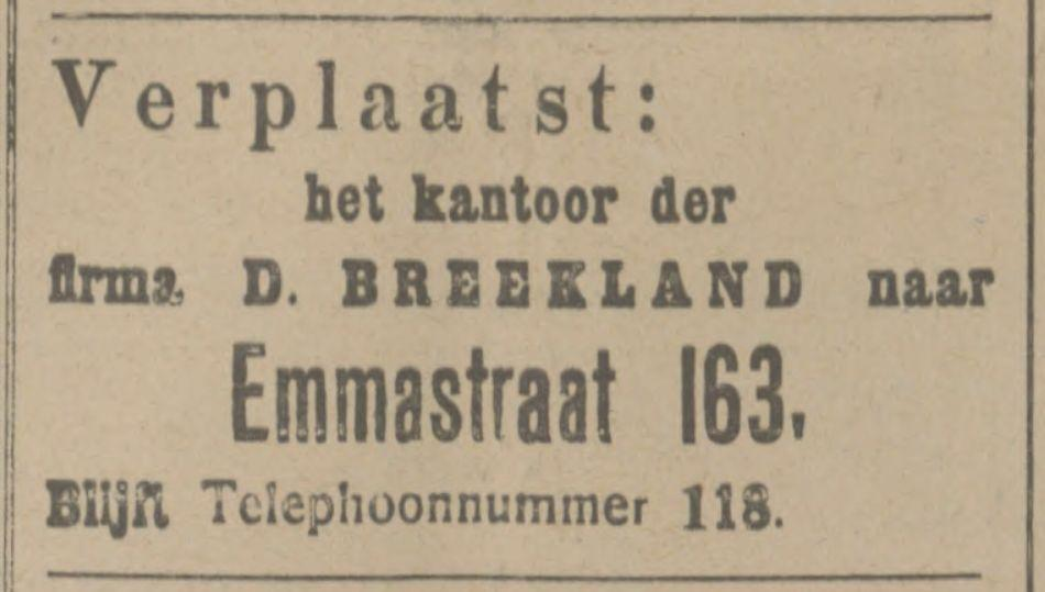 Emmastraat 163 D. Breekland advertentie Tubantia 26-6-1914.jpg