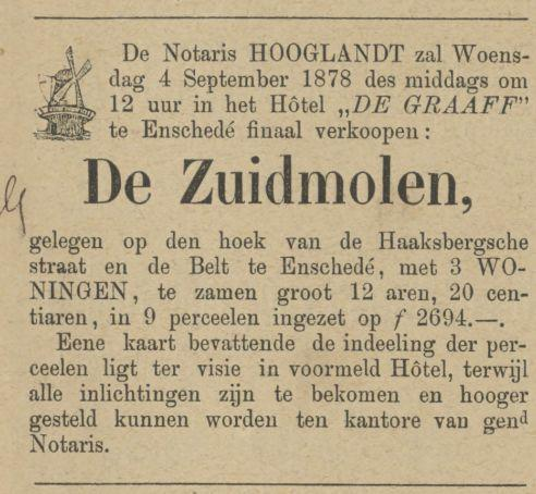 De Belt Zuidmolen advertentie Tubantia 31-8-1878.jpg