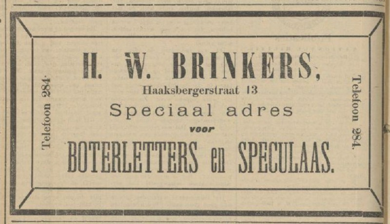 Haaksbergersterstraat 13 H.W. Brinkers advertentie Tubantia 5-12-1908.jpg