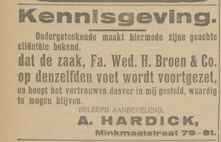 Minkmaatstraat 79-81 H. Broen & Co advertentie Tubantia 11-5-1923.jpg