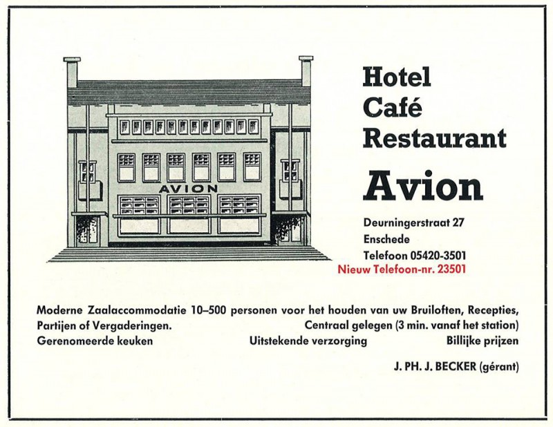 Deurningerstraat 27 HOTEL CAFÉ RESTAURANT AVION J.Ph.J. Becker.jpg