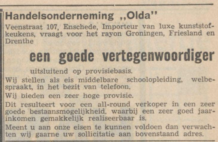 Veenstraat 107 Handelsondrneming OLDA advertentie 13-5-1967.jpg