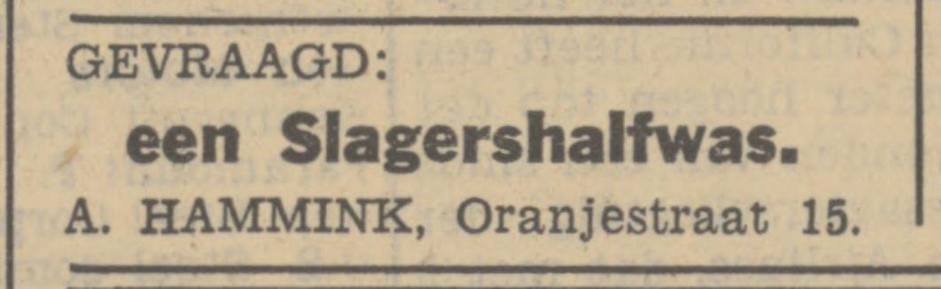 Oranjestraat 15 A. Hammink advertentie Tubantia 13-6-1938.jpg