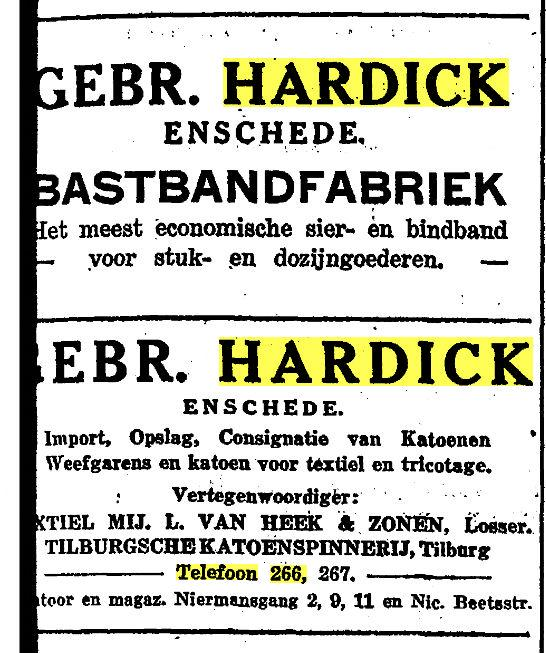 Niermansgang Gebr. Hardick advertentie 2-7-1929.jpg