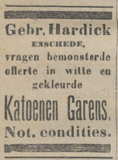 Gebr. Hardick advertentie 16-1-1918.jpg