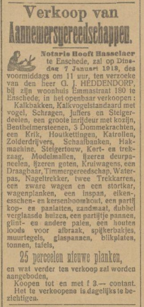 Emmatraat 180 G.J. Heddendorp advertentie Tubantia 2-1-1913.jpg