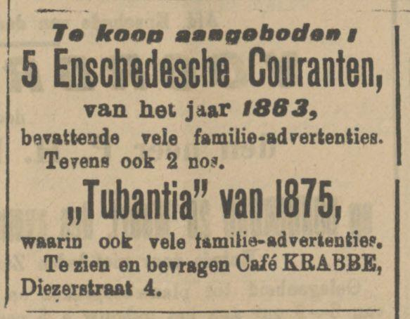 Diezerstraat 4 cafe Krabbe advertentie Tubantia 23-3-1912.jpg