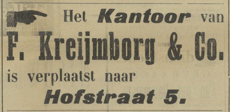 Hofstraat 5 Kreijmborg & Co. advertentie Tubantia 2-7-1907.jpg
