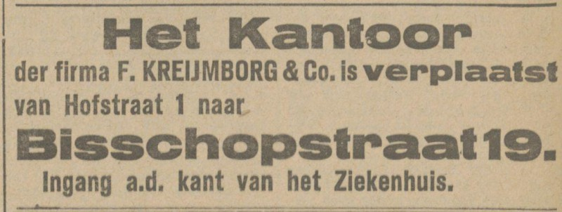 Hofstraat 1 Kreijmborg & Co. advertentie Tubantia 17-11-1917.jpg