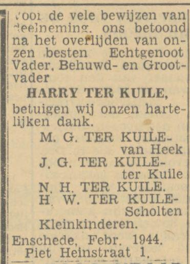 Piet Heinstraat 1 Harry ter Kuile advertentie Tubantia 25-2-1944.jpg