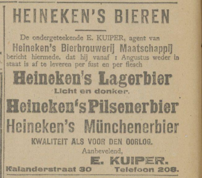 Kalanderstraat 30 E. Kuiper advertentie Tubantia 2-8-1919.jpg