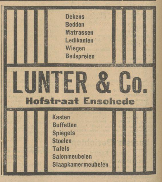 Hofstraat  Lunter & Co. advertentie Tubantia 11-5-1927.jpg
