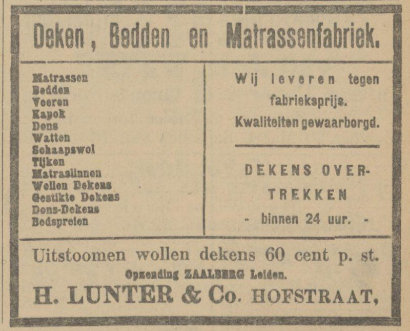 Hofstraat H. Lunter & Co. advertentie Tubantia 27-3-1913.jpg