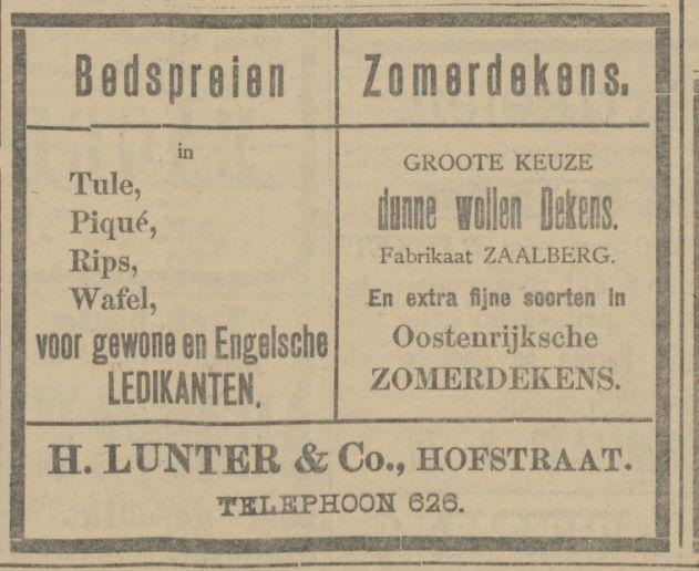 Hofstraat H. Lunter & Co. advertentie Tubantia 29-5-1913.jpg
