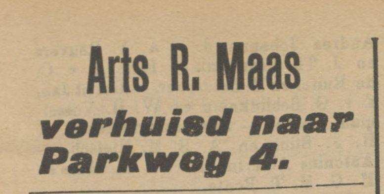 Parkweg 4 R. Maas Arts advertentie Tubantia 1-6-1911.jpg