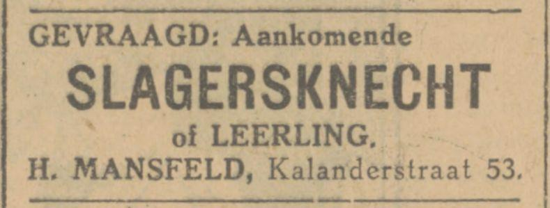 Kalanderstraat 53 H. Mansfeld advertentie Tubantia 9-7-1928.jpg