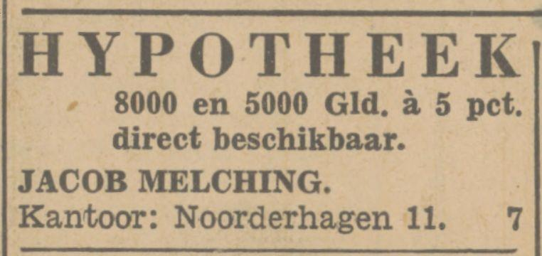 Noorderhagen 11 Jacob Melching advertentie Tubantia 25-11-1932.jpg