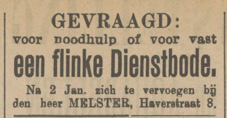 Haverstraat 8 Melster advertentie Tubantia 28-12-1911.jpg