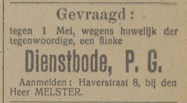 Haverstraat 8 Melster advertentie Tubantia 13-1-1916.jpg