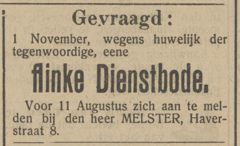 Haverstraat 8 Melster advertentie Tubantia 3-8-1912.jpg