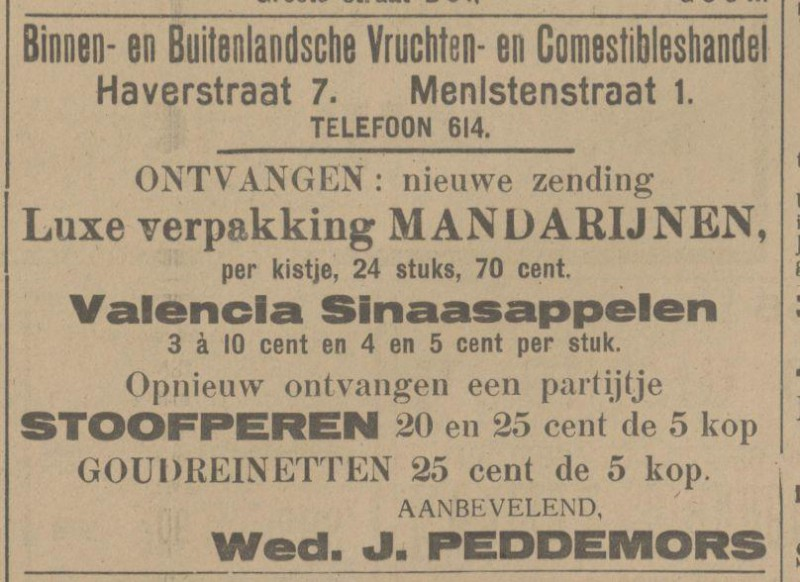 Menistenstraat 1 Wed. J. Peddemors advertentie Tubantia 23-12-1915.jpg
