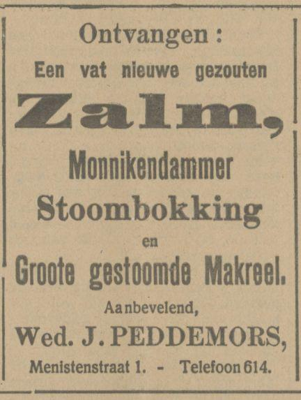 Menistenstraat 1 Wed. J. Peddemors advertentie Tubantia 22-10-1914.jpg