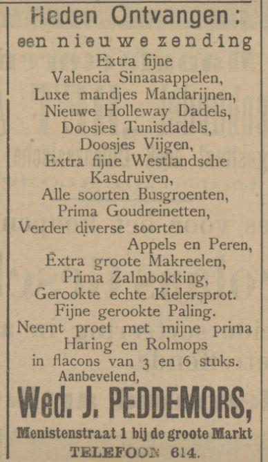 Menistenstraat 1 Wed. J. Peddemors advertentie Tubantia 4-12-1912.jpg