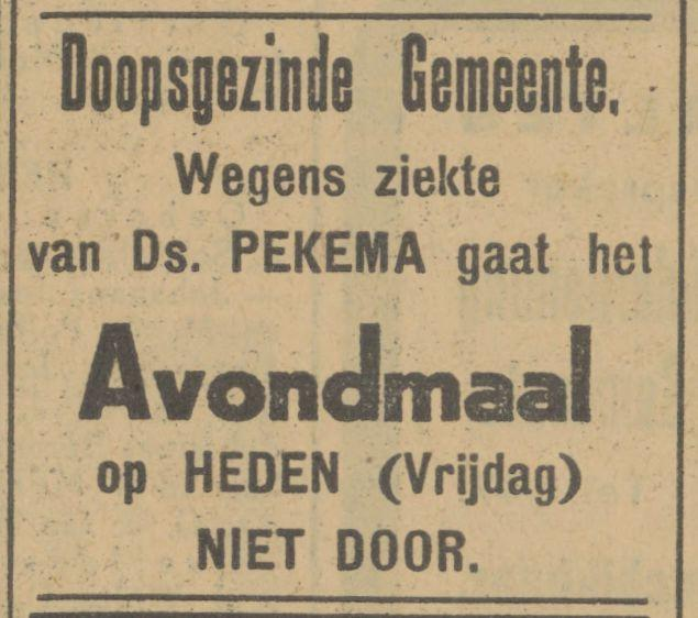Ds. Pekema advertentie Tubantia 29-3-1929.jpg