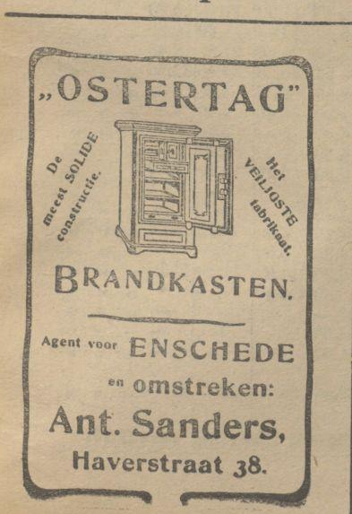 Haverstraat 38 Ant. Sanders advertentie Tubantia 16-10-1909.jpg