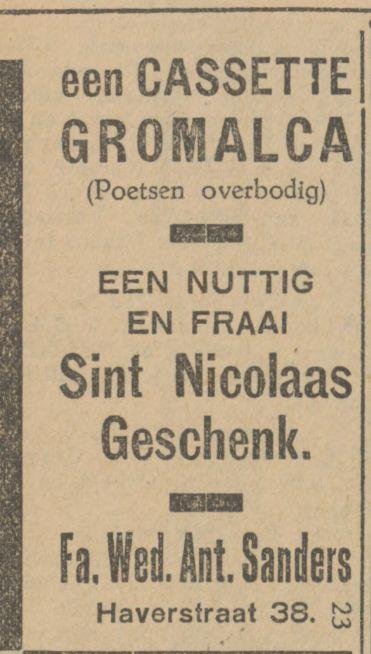 Haverstraat 38 Fa. Wed. Ant. Sanders advertentie Tubantia4-12-1929.jpg