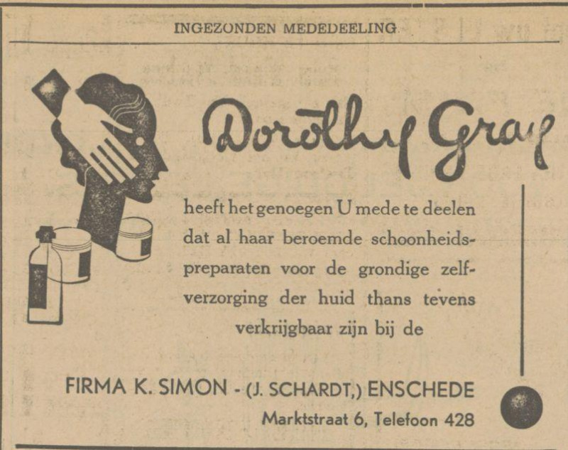 Marktstraat 6 Firma K. Simon advertentie Tubantia 6-11-1931.jpg