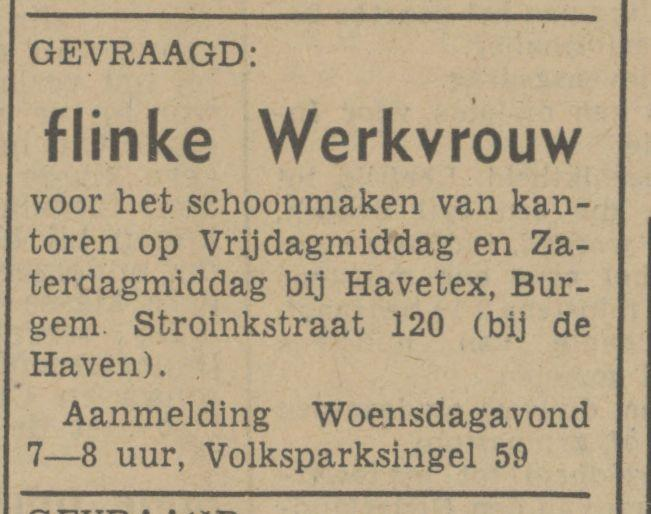 Burg. Stroinkstraat 120 Havetex advertentie Tubantia 28-10-1941.jpg
