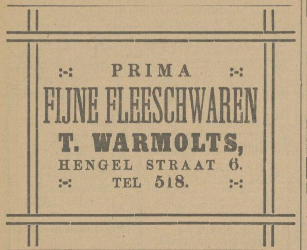 Hengeloschestraat 6 T. Warmolts  advertentie Tubantia 2-4-1915.jpg