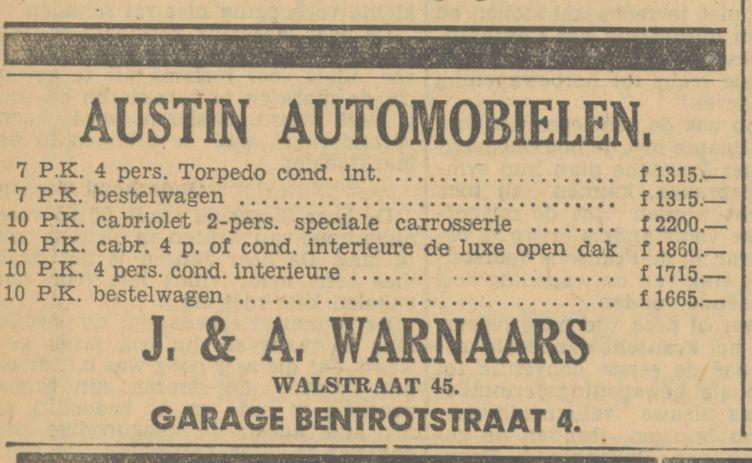 Bentrotstraat 4 A, Warnaars advertentie Tubantia 18-2-1933.jpg