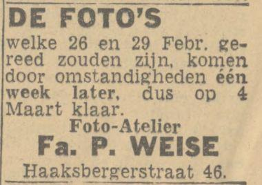 Haaksbergerstraat 46 P. Weise advertentie Tubantia 24-2-1944.jpg