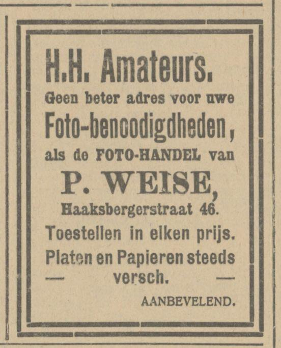 Haaksbergerstraat 46 P. Weise advertentie Tubantia 28-5-1914.jpg