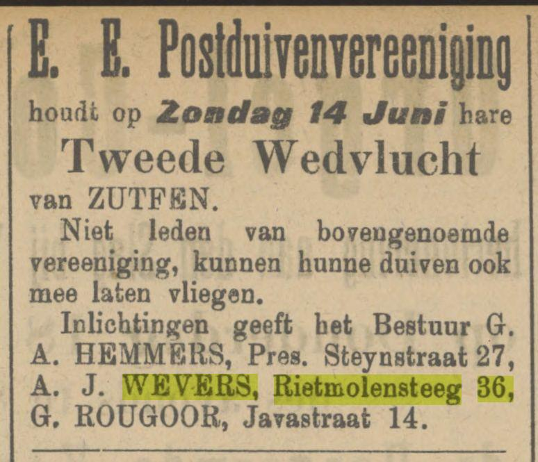 Rietmolensteeg 36 A.J. Wevers advertentie Tubantia 6-6-1908.jpg