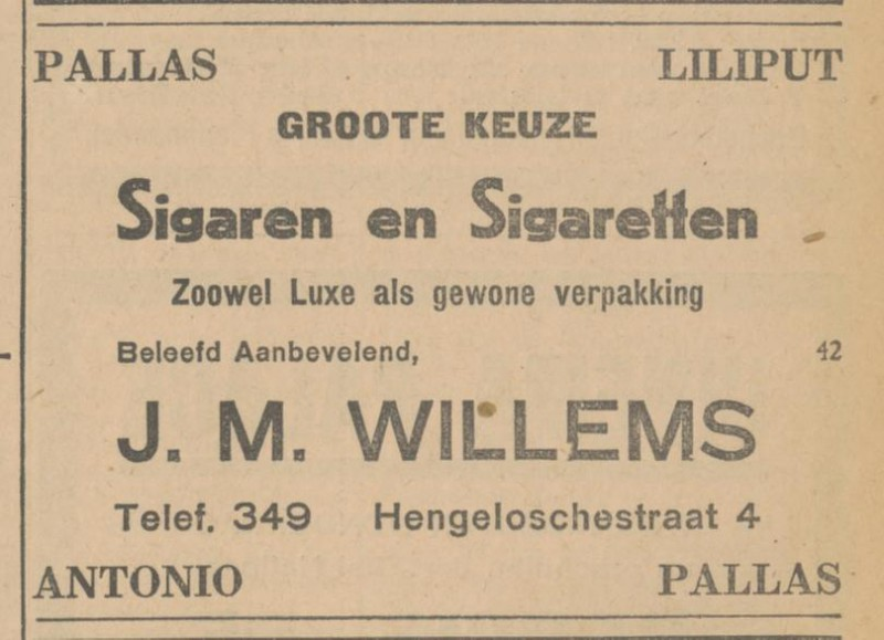 Hengeloschestraat 4 J.M. Willems advertentie Tubantia 3-12-1929.jpg