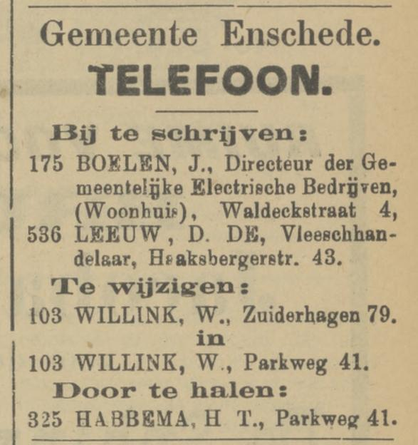Parkweg 41 W. Willink advertentie Tubantia 4-8-1910.jpg