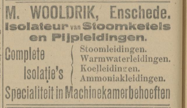 M. Wooldrik advertentie Tubantia 28-9-1918.jpg
