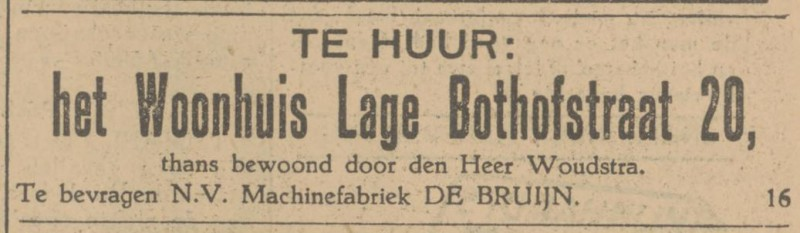 Lage Bothofstraat 20 Woudstra advertentie Tubantia 2-10-1929.jpg