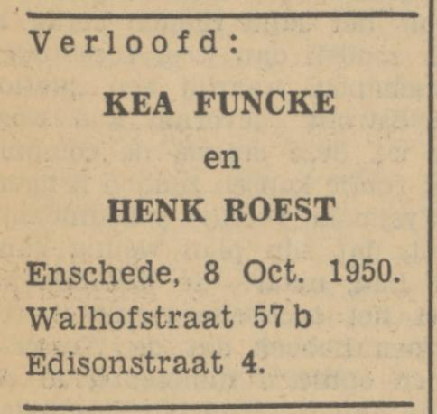 Walhofstraat 57b Funcke advertentie Tubantia 5-10-1950.jpg